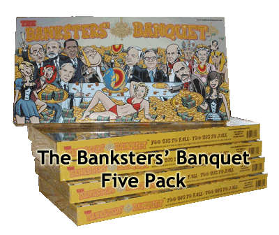 Banksters' Banquet Board Game 5 Pack